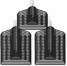 Schramm® 50 Stück Anti Rutsch Samt Kleiderbügel