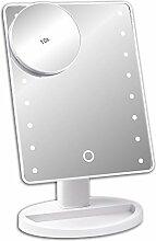 Schramm® LED Schminkspiegel weiß mit 10-Fach