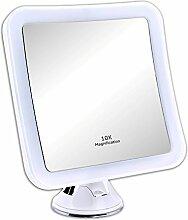 Schramm® LED Spiegel 10-Fach Vergrößerung mit