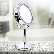 Schramm® LED Spiegel rund 16 LEDs Schminkspiegel