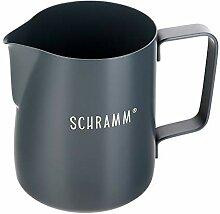 Schramm® Milchkännchen Milchkanne in schwarz