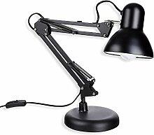 Schramm® Retro Schreibtischlampe in schwarz aus