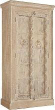 SCHRANK Mangoholz massiv sägerau, antik