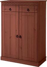 Schrank mit 2 Türen Indra, braun