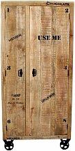 Schrank RUSTIC-14 90x45x190cm natur antik mit