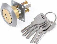 Schrank Schublade Locker Diebstahlschutz Riegel Zylinderschloss w 5Schlüssel