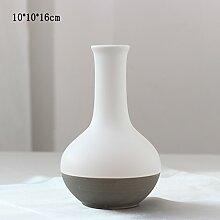 Schrank wohnkultur ornament souvenir Arbeitszimmer Desktop Weiße keramik vase ( Color : F )