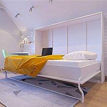 Schrankbett 140x200 weiss, ideal als Gästebett -