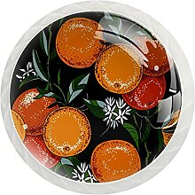 Schrankknäufe, abstrakt, orange, rund,