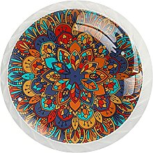 Schrankknäufe, abstraktes Mandala, rund,