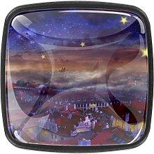 Schrankknäufe aus Glas, 3,5 cm, Schubladengriffe