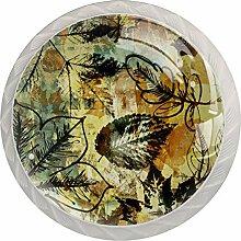 Schrankknäufe aus Glas, rund, für Schublade,