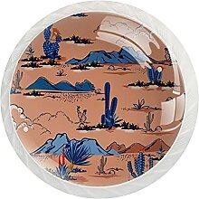 Schrankknäufe Bergkaktus, rund, Kristallglas,