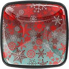 Schrankknöpfe aus Glas, 3,5 cm, transparent, für