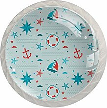 Schrankknöpfe aus Glas, rund, für Schublade,