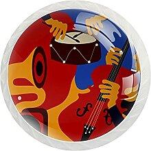 Schrankknöpfe, Musikinstrumente, rund,