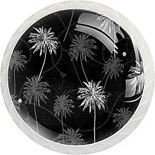 Schrankknöpfe, tropische Plambäume, rund,