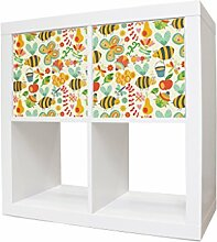 Schranksticker Kinderzimmer Möbel für IKEA Expedit / Kallax Schrank mit Motiv: Nektar