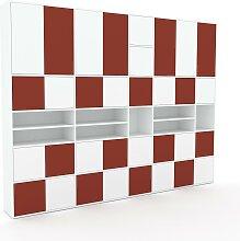 Schrankwand Weiß - Moderne Wohnwand: Türen in