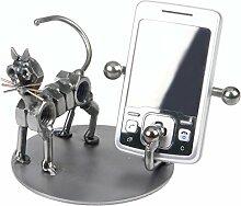 Schraubenmännchen KATZE SMART PHONE HALTER HANDYHALTER handgefertigte ausgefallene Geschenkidee