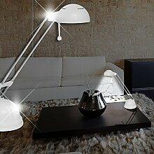 Schreib ↥400mm/ Weiß/ Lampe Bürolampe Büroleuchte Schreibtischlampe Schreibtischleuchte