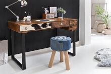 Schreibtisch 120 x 60 x 79 cm Massiv Holz