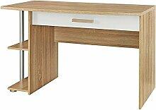 Schreibtisch Aaltje weiß grau sonoma eiche inkl Regal Computertisch Kinderschreibtisch Jugendschreibtisch Jugendzimmer Kinderzimmer