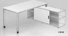 Schreibtisch Auflieger HMB Quedlinburg 160 x 160