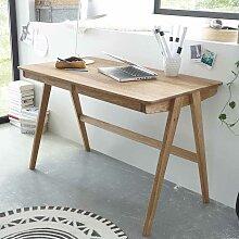 Schreibtisch aus Eiche Massivholz 120 cm