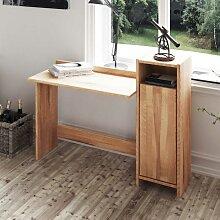 Schreibtisch aus Kernbuche Massivholz mit Tür