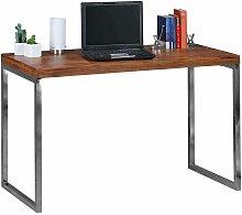 Schreibtisch aus Sheesham Massivholz Metall