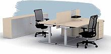 Schreibtisch BNS SQart 160 x 80 cm C-Fuss schnell