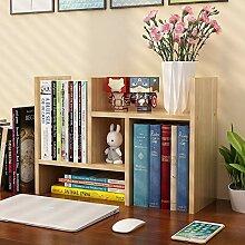Schreibtisch-Bücherregal, verstellbar, Holz,