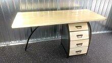 Schreibtisch Bürotisch mit Büro-Container 160cm