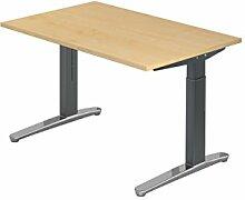 Schreibtisch C-Fuß 120x80cm Ahorn Graphi