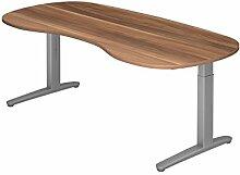 Schreibtisch C-Fuß 200x100cm Zwet/Silber