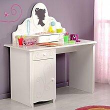 Schreibtisch Celina inklusive Aufsatz weiß B 120 cm MDF Kinderzimmer Jugendzimmer Computertisch Mädchenschreibtisch