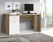 Schreibtisch Eiche Antik/ weiss matt Woody 77-00355