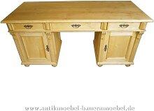 Schreibtisch freistehend Landhausstil Massivholz