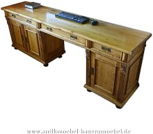 Schreibtisch groß Landhausstil Massivholz