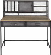 Schreibtisch im Industrial-Stil, 1 Tür, 2