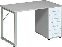 Schreibtisch in Grau Weiß Büro