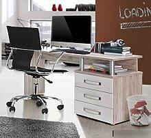 Schreibtisch in Sandeiche Absetzungen Weiss