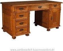 Schreibtisch Landhausmöbel Massivholz Bürotisch