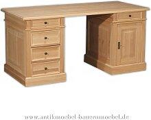 Schreibtisch Landhausstil Massivholz ErleVollholz