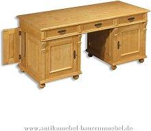 Schreibtisch Landhausstil Massivholz Gründerzeit