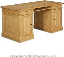 Schreibtisch Landhausstil Massivholz Vollholz