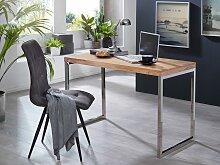 Schreibtisch Massivholz Akazie Computertisch 120 x