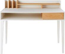 Schreibtisch mit 1 Schublade, weiß Kara