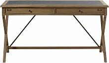 Schreibtisch mit 2 Schubladen aus massivem